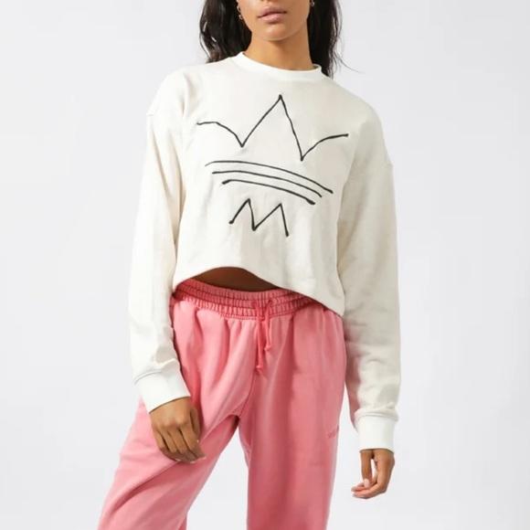Adidas cropped sweatshirts